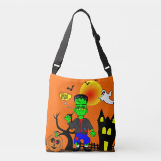 Funny Frankenstein's Monster Image Crossbody Bag