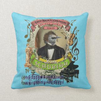 Funny Franz Schubird Animal Composer Schubert Joke Cushion