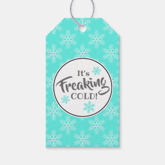 Funny Freaking Cold Winter Holiday Gift Tags