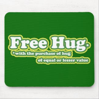 Funny Free Hug Hugs Parody Mouse Mat