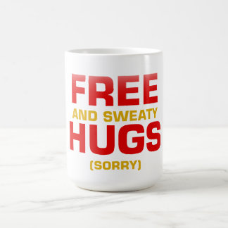Funny FREE HUGS with hidden message Basic White Mug