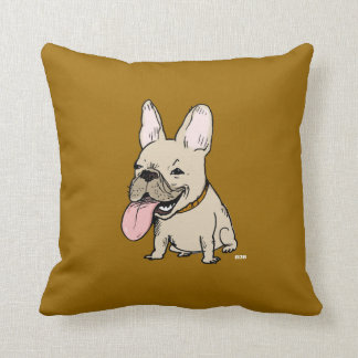 Funny French Bulldog - Color Customizable Cushion