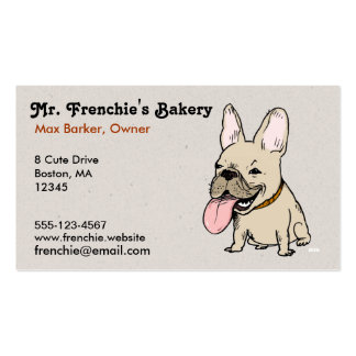 Funny French Bulldog with Huge Tongue Sticking Out Pack Of Standard Business Cards