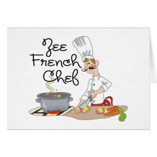 Funny French Chef Gift Cards
