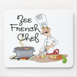 Funny French Chef Gift Mouse Pads