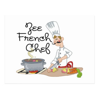 Funny French Chef Gift Post Cards