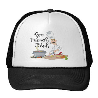 Funny French Chef Gift Trucker Hats