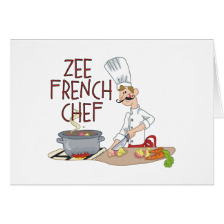 Funny French Chef Gifts Greeting Card