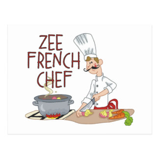 Funny French Chef Gifts Post Card