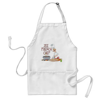 Funny French Chef Gifts Standard Apron