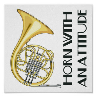 Funny French Horn Poster