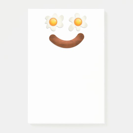 Funny Fried Egg Food Face Post-it® Notes