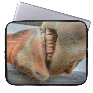 Funny Friendly Horse Muzzle and Teeth Computer Sleeves