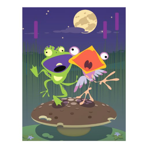 Funny Frog and Bird Full Color Flyer