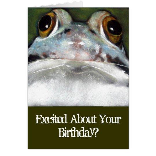 Funny Frog, Birthday Card: Original Art Card