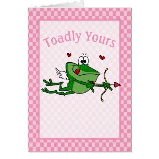 Funny Frog Cupid Valentine Card