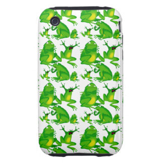 Funny Frog Emotions Angry Mad Curious Scared Frogs Tough iPhone 3 Case