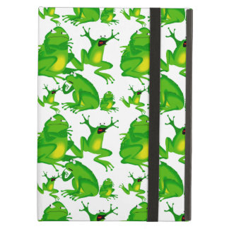 Funny Frog Emotions Angry Mad Curious Scared Frogs Case For iPad Air