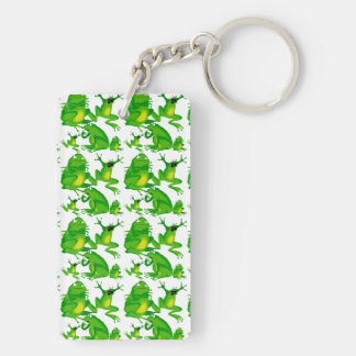 Funny Frog Emotions Angry Mad Curious Scared Frogs Key Ring
