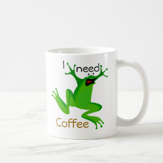 funny frog-I need Coffee Coffee Mug