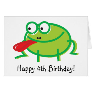 Funny Frog on White Card