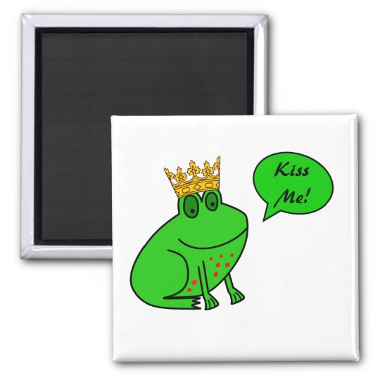 Funny Frog Prince - Animal Fridge Magnets
