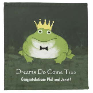 Funny Frog Prince with Customizable Text Printed Napkin