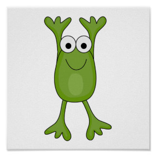 funny froggy frog poster