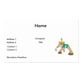 funny frustrated golfer business card templates