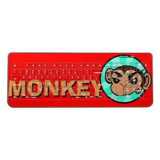 FUNNY FRUSTRATED MONKEY COMPUTER KEYBOARD