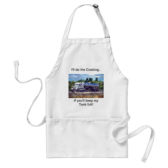 FUNNY FUEL TANKER BBQ CHEF'S TRUCKERS APRON