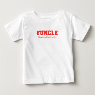Funny Funcle College Print Baby T-Shirt