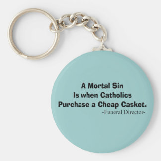 Funny Funeral Director Gifts Key Chain