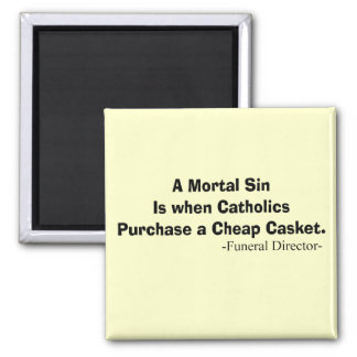 Funny Funeral Director Gifts Square Magnet