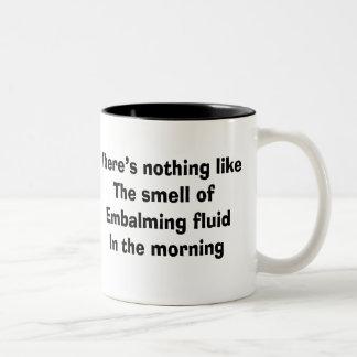 Funny Funeral Director Gifts Two-Tone Coffee Mug