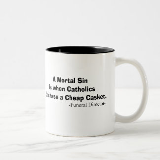 Funny Funeral Director Gifts Two-Tone Mug