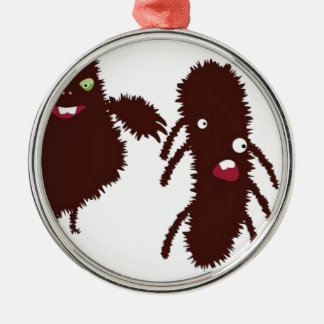 Funny furry characters christmas ornament