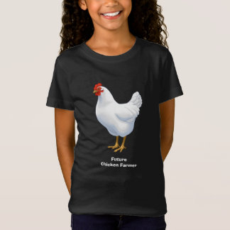 Funny Future Chickn Farmer White Hen T-Shirt