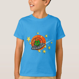 FUNNY GALACTIC SPACE KITTY CAT T-SHIRT