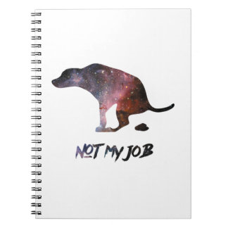 Funny Galaxy Dog Photo Notebook
