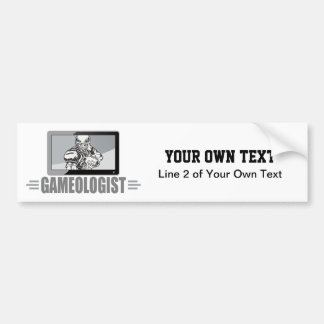 Funny Gameologist Football Fan TV Quarterback Bumper Sticker