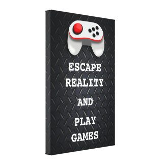 Funny Gamer Quotes Canvas Print