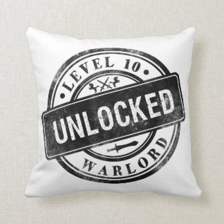 Funny Gamers Pillow Achievement Unlocked Warlord Cushions