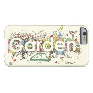 Funny Garden Word Art Colourful Painting Design Barely There iPhone 6 Case