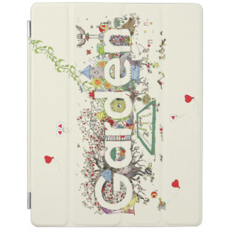 Funny Garden Word Art Colourful Painting Design iPad Cover