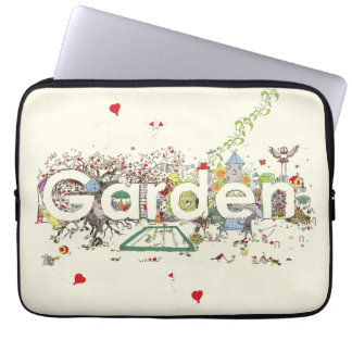 Funny Garden Word Art Colourful Painting Design Laptop Sleeve
