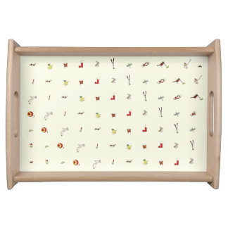 Funny Garden Word Art Colourful Painting Design Serving Tray