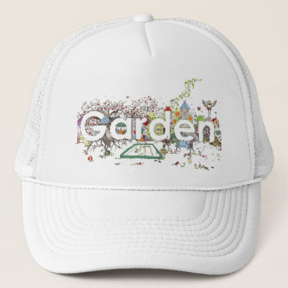 Funny Garden Word Art Colourful Painting Design Trucker Hat