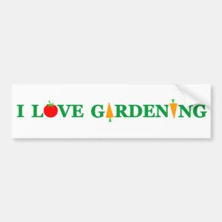 Funny Gardener I LOVE GARDENING Bumper Sticker