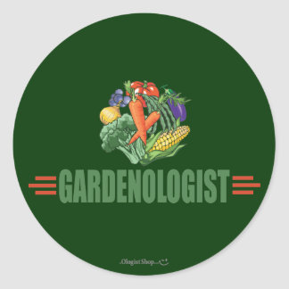 Funny Gardener Round Sticker